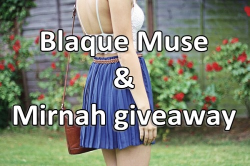 Another giveaway - the lovely people from Blaque Muse will give 30$ credit to spend in their shop. Their pieces will please your discriminate taste, and help you add elements to your unique style.  All you have to do is: Like Blaque Muse on Facebook Follow Blaque Muse on Twitter Leave a comment below this post with your email address For extra entry: Follow Mirnah on Twitter and/or like Mirnah on Facebook Post about this giveaway on your blog or Facebook **just make sure to mention each extra entry in comments Contest is opened worldwide and you have one week to enter! (August 14th), winner will be chosen via random.org.