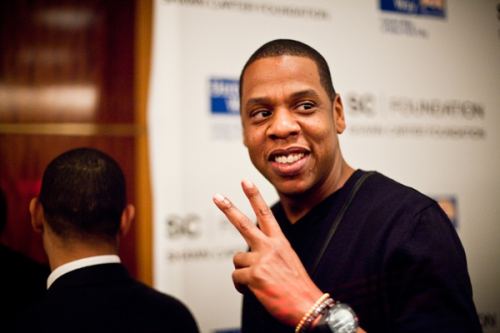 Jay-Z attends the Shawn Carter Scholarship Foundation press conference.