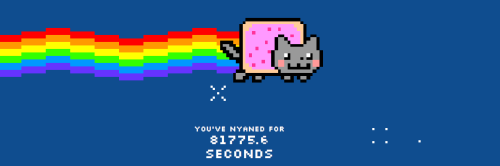 this is what happens when you leave Nyan Cat on by mistake over night… LOL 81,775 seconds… WOOPSIES I'M NOT CRAZY I SWEARZ nyan nyan nyan nyan nanananana nyan nyan nyan!!