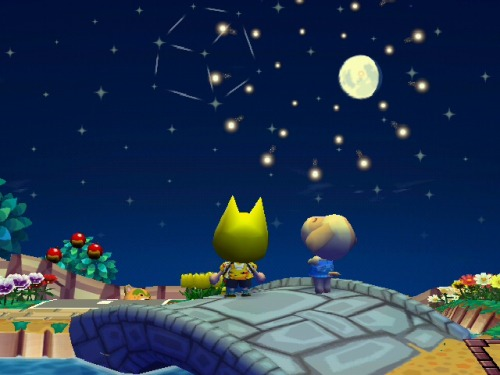 Watching the fireworks with Goldie <3