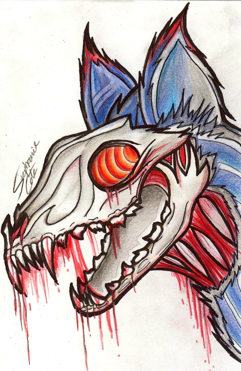 sidewinder7x:  Undead Hellhound! Prints are available here for $8.00:https://www.etsy.com/listing/103930089/undead-hellhound-55x85