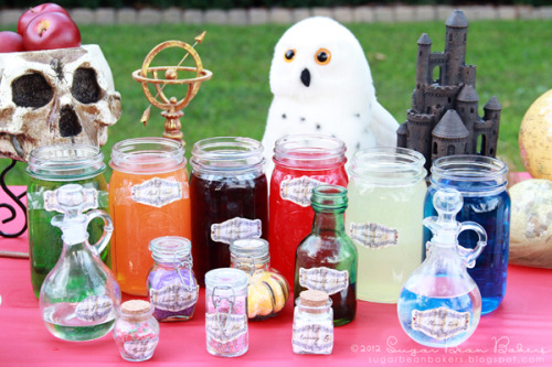 Epic Harry Potter Party http://sugarbeanbakers.blogspot.com/2012/08/epic-harry-potter-party-post.html#