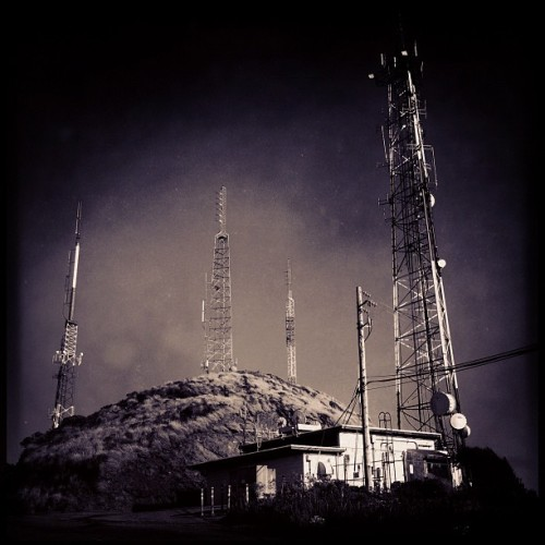 Radio towers on San Bruno Mountain. (Taken with Instagram at San Bruno Mountain State Park)