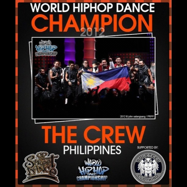 "World HipHop Dance Champion 2012 ""The Crew"" Philippines #Hiphop #UPSTREET #UP #UNIBERSIDADNGPILIPINAS #Champions #Battle #Dance #LabanPilipinas #crew #Swagg #BreakDance #Jazz #Punk #Lyrical #PopLock #Isolation #House #IgersManila #Igersworld #IgPhilippines #Igworld #instapic #Instadance #Instagood #Instacool #Manila #Philippines #Pictureoftheday #IgManila #2012  (Taken with Instagram)"