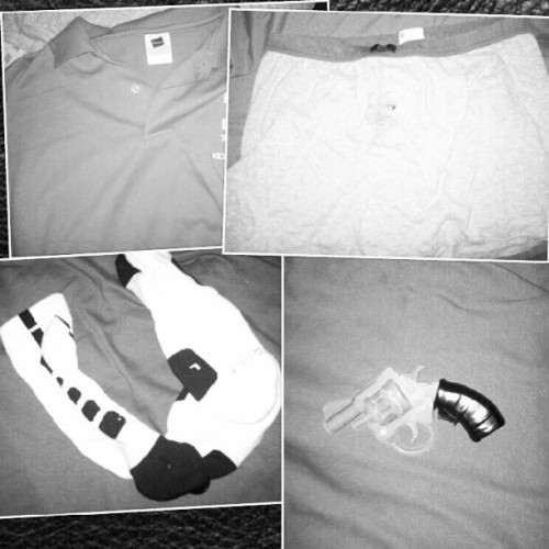 Brand new shirt to the brand new drawls. Brand new socks to the brand new glock. (Taken with Instagram)