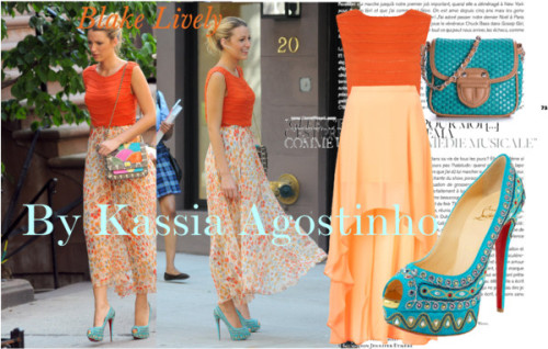 Celebrity Look of The Day by kassia-agostinho featuring silk topsAlice + Olivia silk top, $435 / High low maxi skirt / Cross body shoulder bag