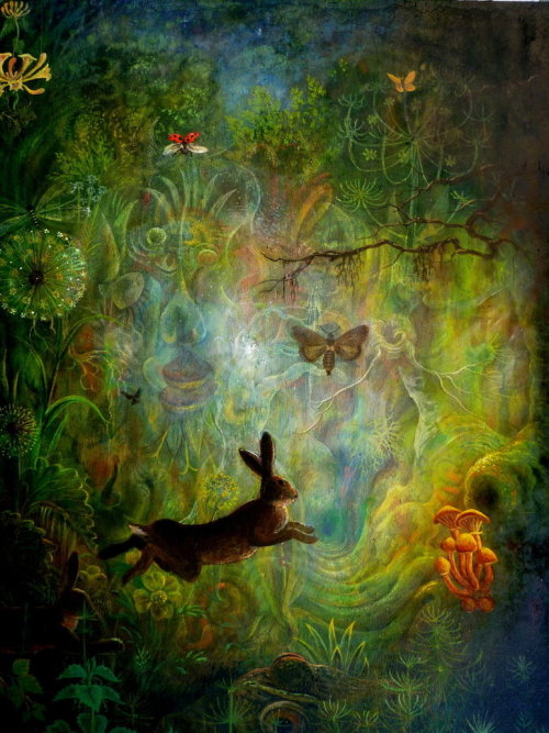 "fuckyeahpsychedelics:  ""An Intruder In The Forest"" by rodulfo"