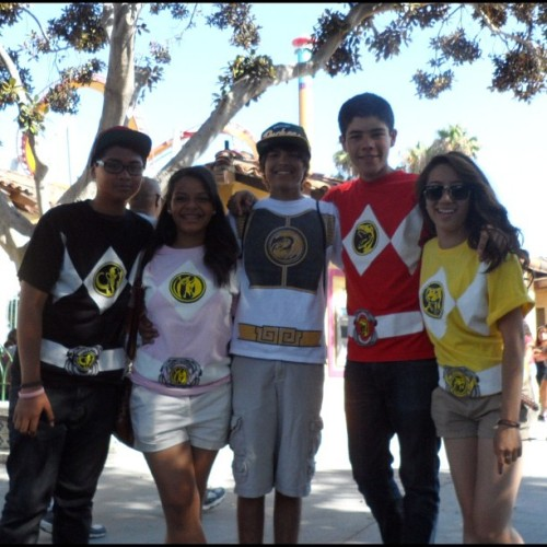 Go go power rangers ! Holla. ✌ gotta love them :) from when we went to Knotts last month. And, of course, Sebastien had me be the yellow ranger since I'm Asian.  (Taken with Instagram)
