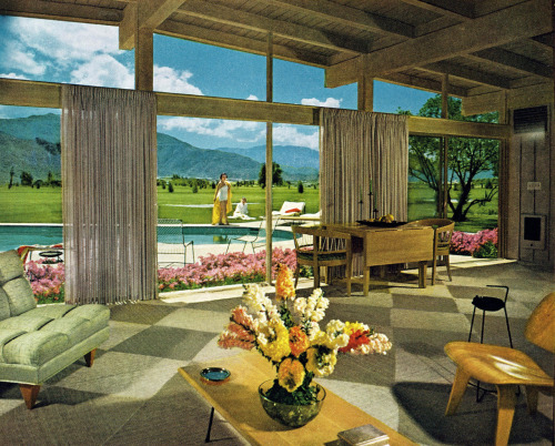 dtxmcclain:  Mid-century modern house in Palm Springs, 1955