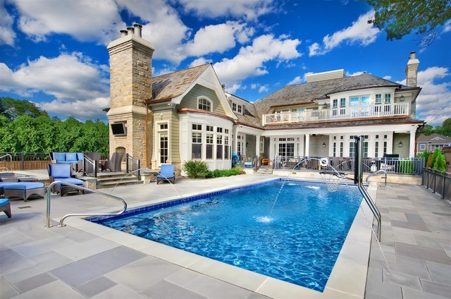 (via Swimming Pools Chicago: Platinum Pools - traditional - pool - chicago - Platinum Poolcare)