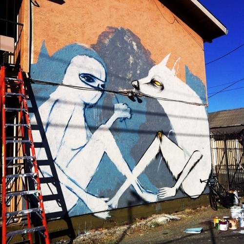 Started new mural with cannon dill #folklore #solanoalley #chrisgranillo  (Taken with Instagram)