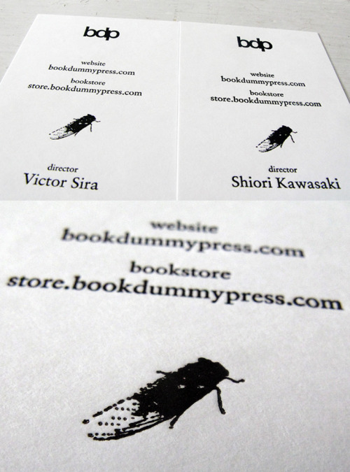 Our new business card! bookdummypress:  We are very happy to receive our business card that was designed and printed in Japan!