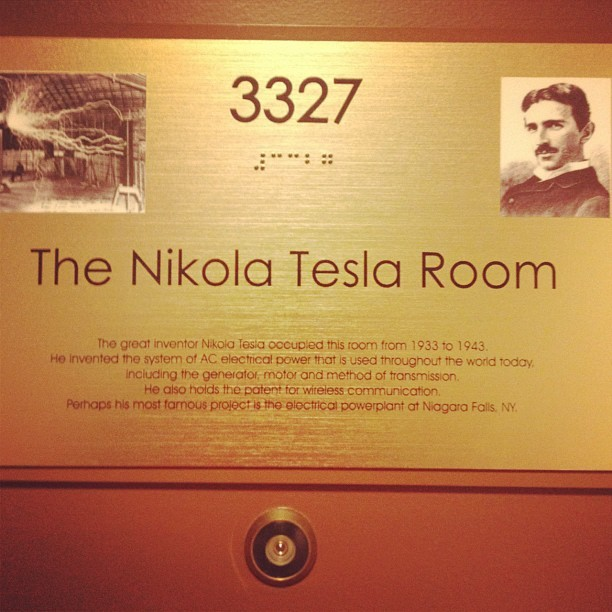 The Tesla Suite (Taken with Instagram at New Yorker Hotel)