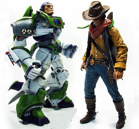 Toy Story Gets Badassified Imagine what Toy Story would have been like if the Buzz and Woody figures looked like this! (via Studio-407)