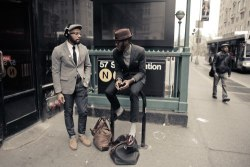 57th St #streetstyle happens #menswear  stayfreshlooksharp:  Midtown Spot, Brooklyn Style.