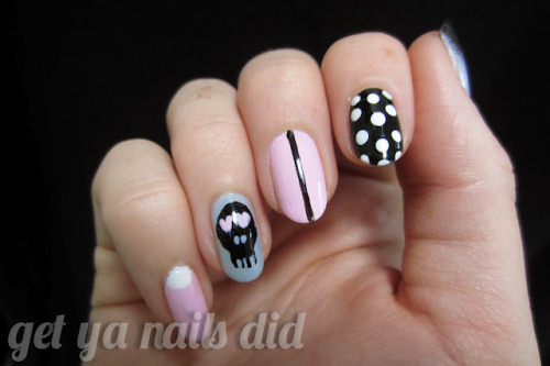 skull candy at get ya nails did OPI Mod About YouChina Glaze White on WhiteEssence Got a Secret?Wet n Wild Black CremeOrly Androgynie