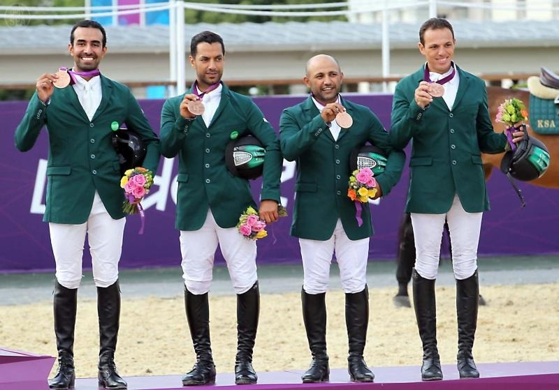 jood1:  Saudi Arabia's equestrian show jumping team on Monday won a medal in the Olympics.