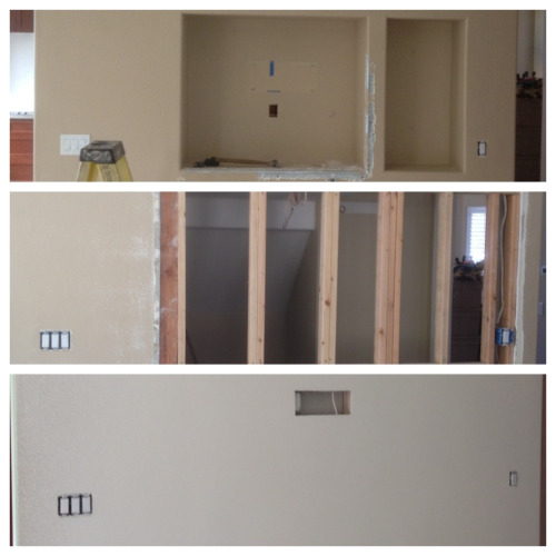 We do a lot of drywall work. From small repairs to complete interiors and everything in between.