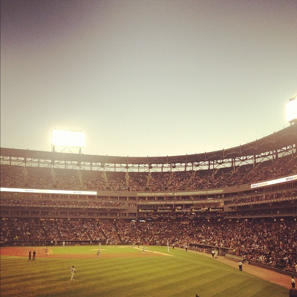 Sox Time. #whitesox #uscellularfield #chicago  (Taken with Instagram)