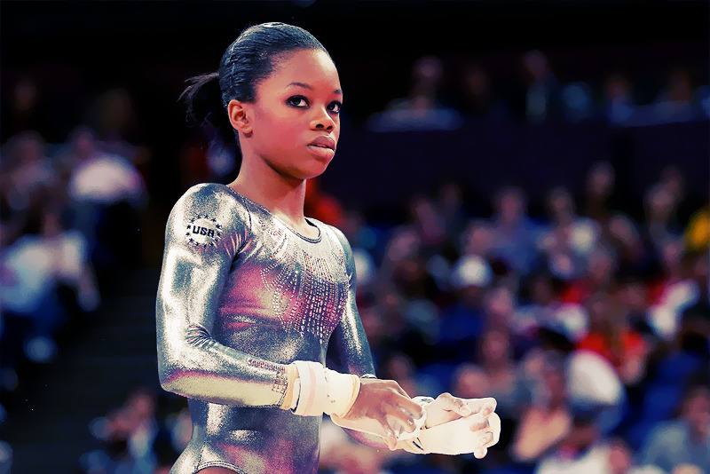OLYMPICS DAY 10 Gabby Douglas of the United States competes in Gymnastics Women's Uneven Bars final. She would fail to medal, placing in the 8th spot. Photo by Ronald Martinez