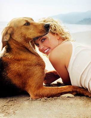 Love these pics of Charlize and her dog, Tucker.