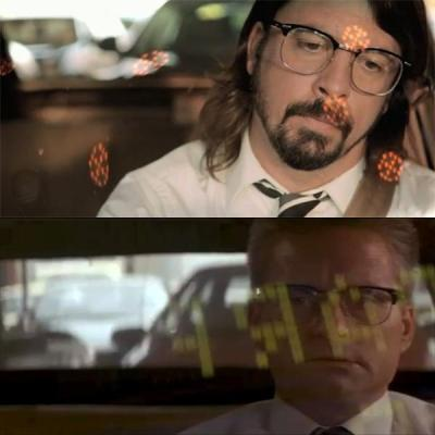 Dave Grohl and Michael Douglas - Falling Down and its tribute clip