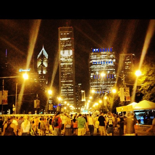 End of Day 2.  #lollapalooza #lolla #music #chicago #grant #park (Taken with Instagram)