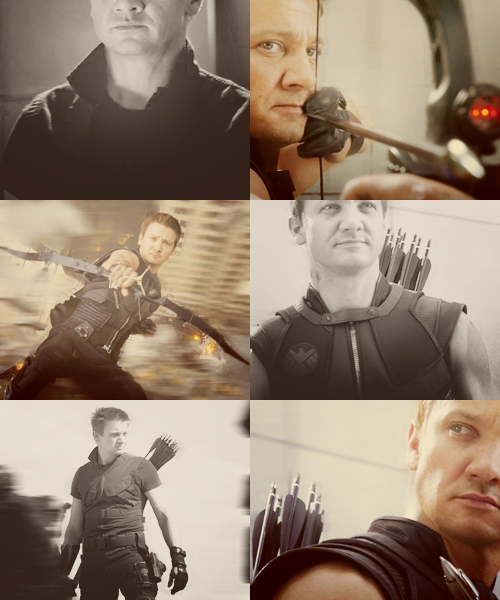 "trustingdesires:  A-Z of favourite characters → Clint Barton  ""It would be my genuine pleasure."""