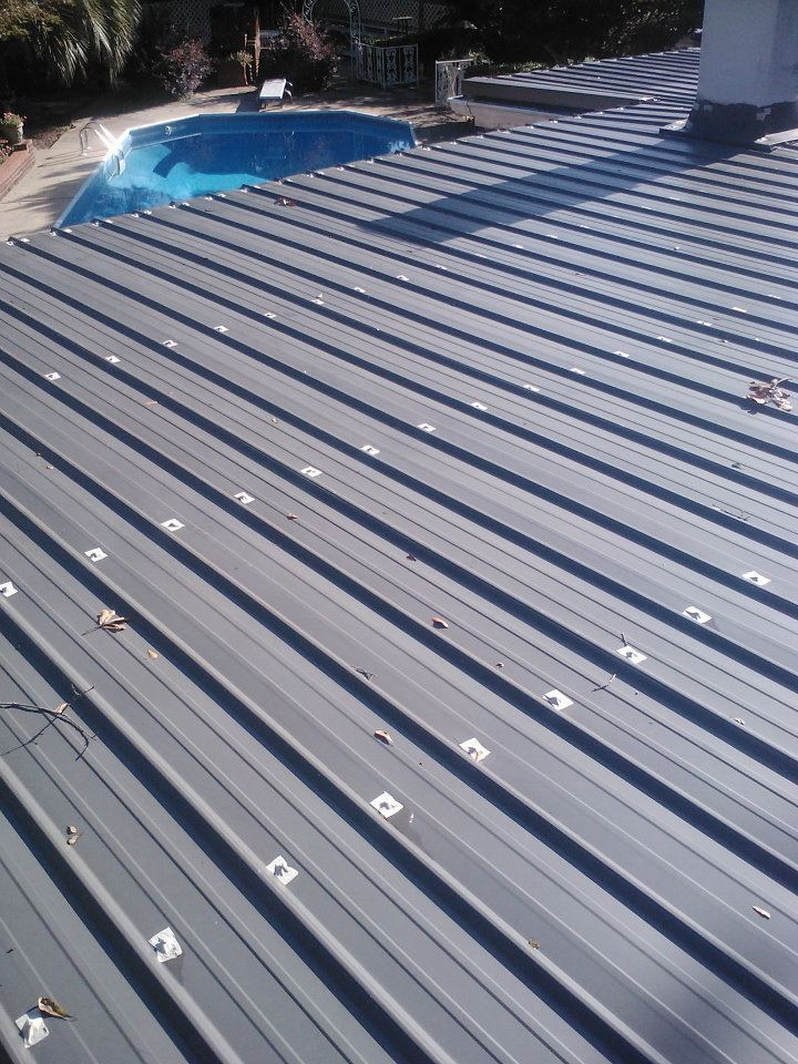 Metal roof cost metal roof mobile home for Manufactured roof trusses