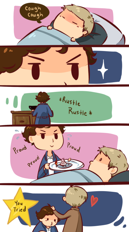 ineffableboyfriends:  One day you'll get it right, Sherlock.