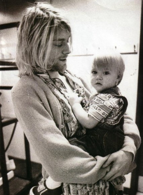 suicideblonde:  Kurt Cobain and Frances Bean