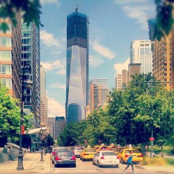 From Lower Manhattan w/ Love.. #LowerManhattan #OneWorldTradeCenter #BatteryParkCity #FinancialDistrict #NewYorkCity #Summer #BrooklynBatteryTunnel (Taken with Instagram at Battery Park)