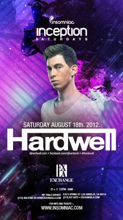 Hardwell is on deck to take the decks at Inception  Buy tickets here.