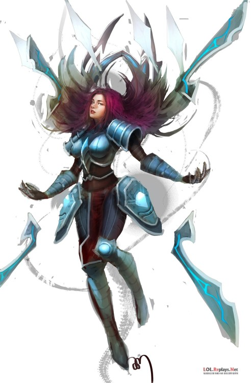 I like the Infiltrator Irelia skin. Purple hair & cyber samurai William Gibson-ish.