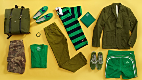 littlefrustrations:  green ensembles.