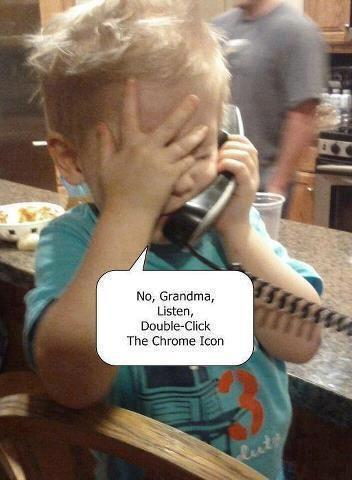 Grandma's tech support. (Credit to whomever created this fun one)