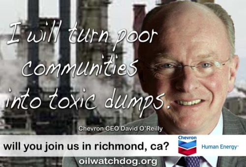 BAY AREA: Chevron is hosting a Town Hall Meeting Tuesday, August 7 at 6 p.m. at the Richmond Memorial Auditorium. You know where to be tomorrow.