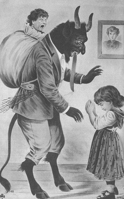 foolish-arachni:  whovianfeminist:  quickdraw-kiddo:  Fuckin' Krampus.  I love that Krampus wears a full fucking business suit. KRAMPUS!!!  That's a dapper mother f*ckin' Krampus, right there…