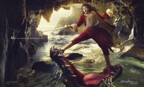 Russell Brand takes on the role of Capt. Hook for the Disney Dreams portraits by Annie Leibovitz