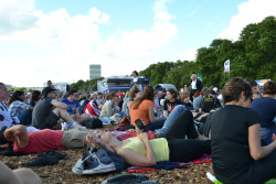 Hyde Park Big Screens: This is more like it! After a very unsuccessful trip to Victoria Park, I was nervous heading towards the much bigger experience of Hyde Park - a larger site has the potential to be even more empty. I need not have feared. The place was rammed, it took half an hour just queueing to get it! And the atmosphere was buzzing. With four big screens, and it being a weekend of stonking British success, people a wave of people moved between each of them to catch Murray on Centre Court or Clancy in the veladrome. The most exciting moments were reserved for fresh GB Gold Medals. Sat near the back, my view of the screen was obstructed by thousands of hands, flags and bodies flying into the air and the commentary drowned out by cheering, clapping and some very enthusiastic screams. Now that GB are on the ascendance, the general public seem to be shifting into gear when it comes to supporting the home team and enjoying the Olympic circus (damn glory hunters, I've been here the whole bloody time).