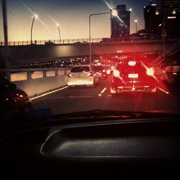 Fuck ): #peakhour #traffic #gladquentinisdriving (Taken with Instagram)