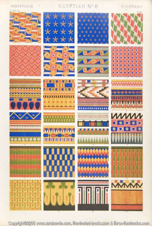 trevise:  Textiles Owen Jones, The Grammar of Ornament, 1868.