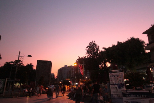Purple sky, somewhere in Antalya.