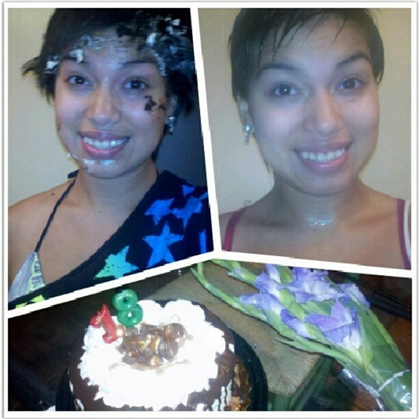 My birthday so far! I dont want cake for a reason. big 1-8!!! :) #HappyBirthdayToMee(: (Taken with Instagram)
