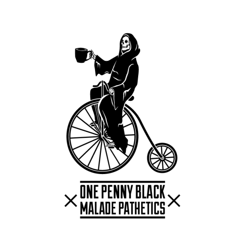 A store shirt design for One Penny Black in Newcastle. The spot for a coffee/tea/feed.