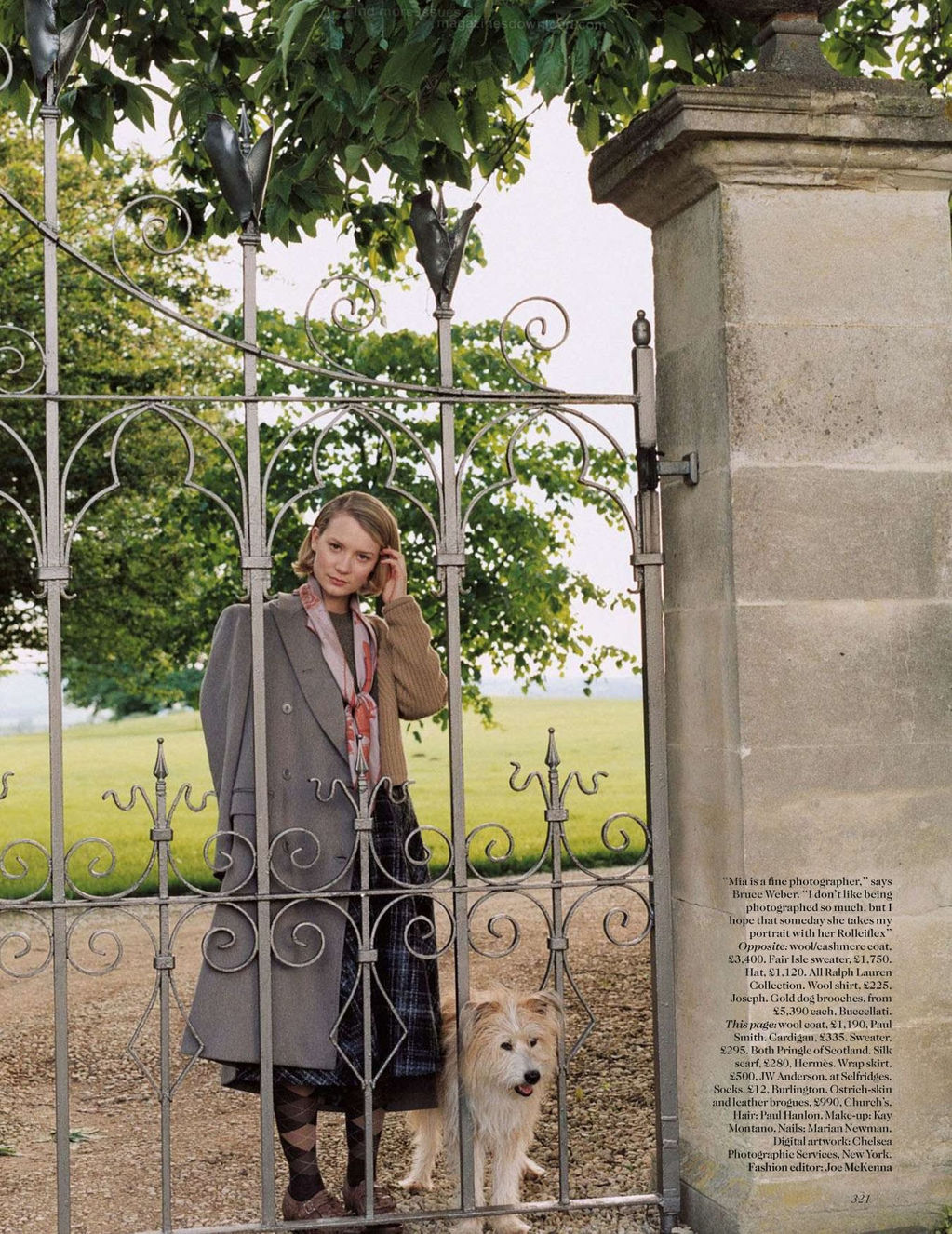 Mia Wasikowska Vogue U.K. September 2012