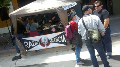 some sweet coverage of Radio Valencia's remote broadcast at Sunday Streets yesterday, in the Radio Survivor blog