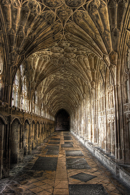 visitheworld:  Gloucester Cathedral cloister, used extensively in the Harry Potter film series, England (by shexbeer).