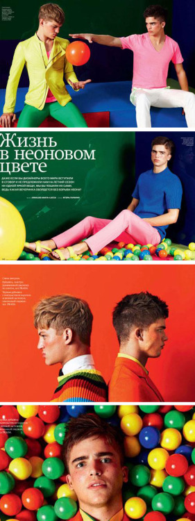 lillu9:  GQ Style Russia river and sebastian by arnaldo