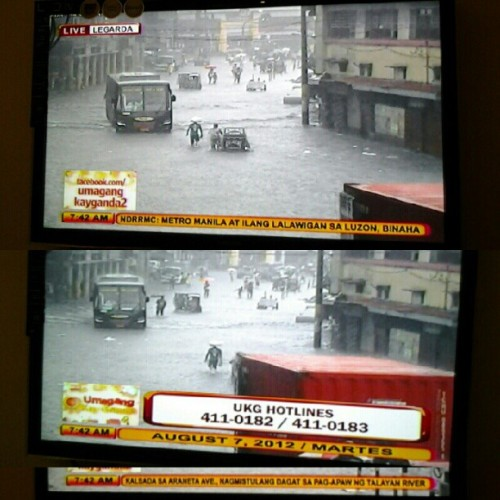 08.07.2012 Flood in Legarda. Mala-Ondoy? @markpaulranada @mayibangdanica @patriciabeaJ #haya #PrayforthePhilippines #2012 #flood #habagat #Philippines #mandy #buboy #danica #bea #legarda #LRT #LRT2 #manila #photoblog #news #ukg #memories #UST #buhayarki #blog #Ondoy #rain #thunderstorms  (Taken with Instagram)